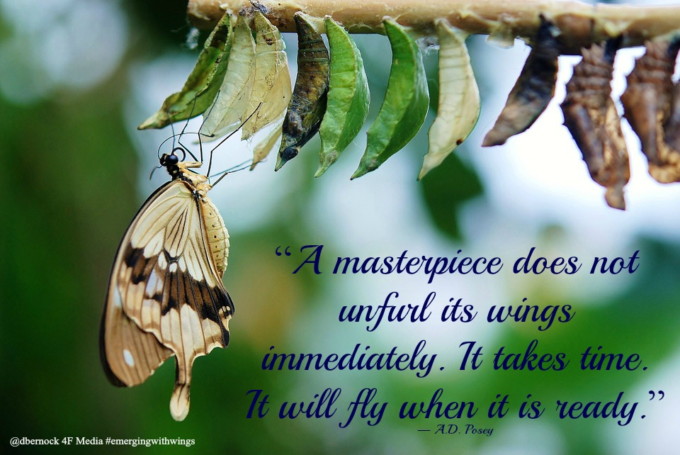 public domain butterfly pic with quote