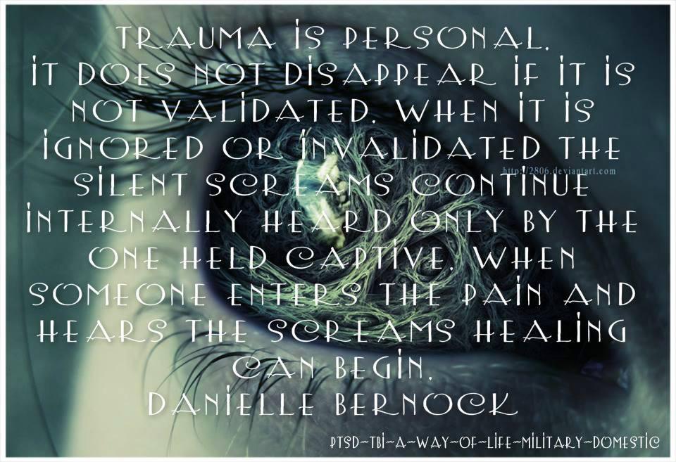 trauma is personal