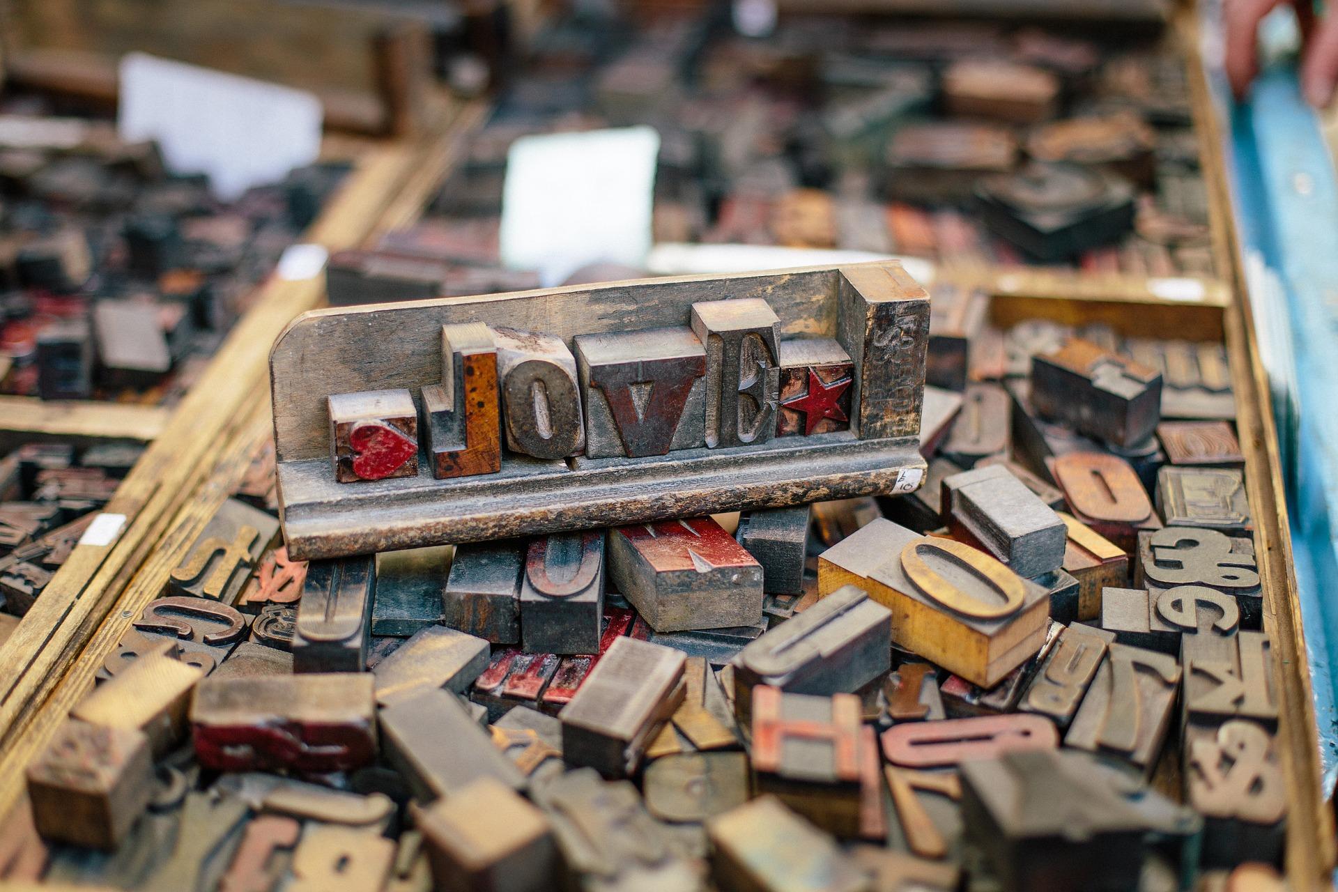 woodtype letterpress love